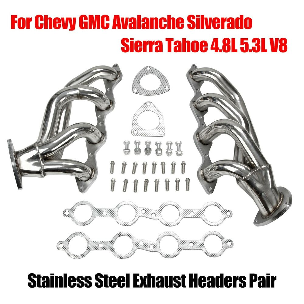 stainless headers for chevy gmc avalanche silverado sierra