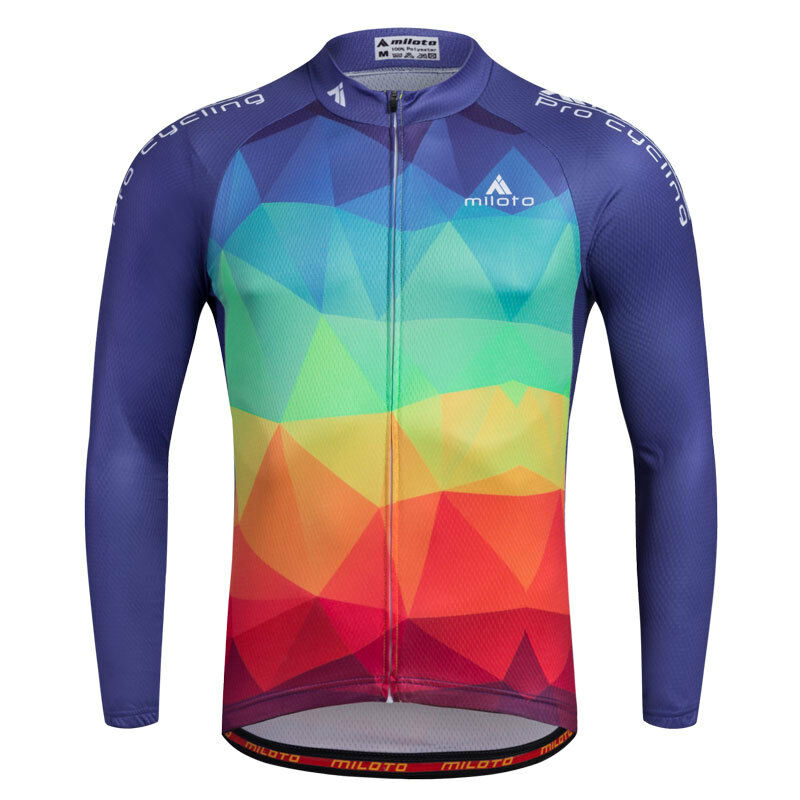 Details about Mens Reflective Cycling Shirt Top Bike Bicycle Cycle Long  Sleeve Jersey Colorful 5a7eedb64