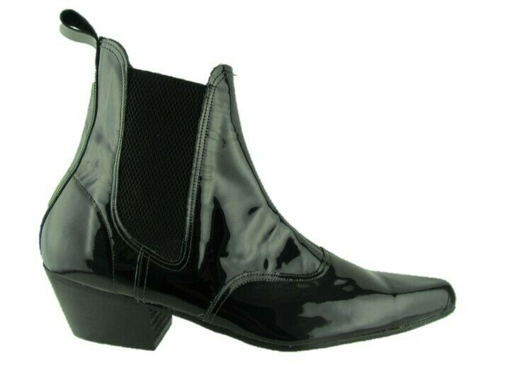 Black Patent Ladies Boots Shoe Box