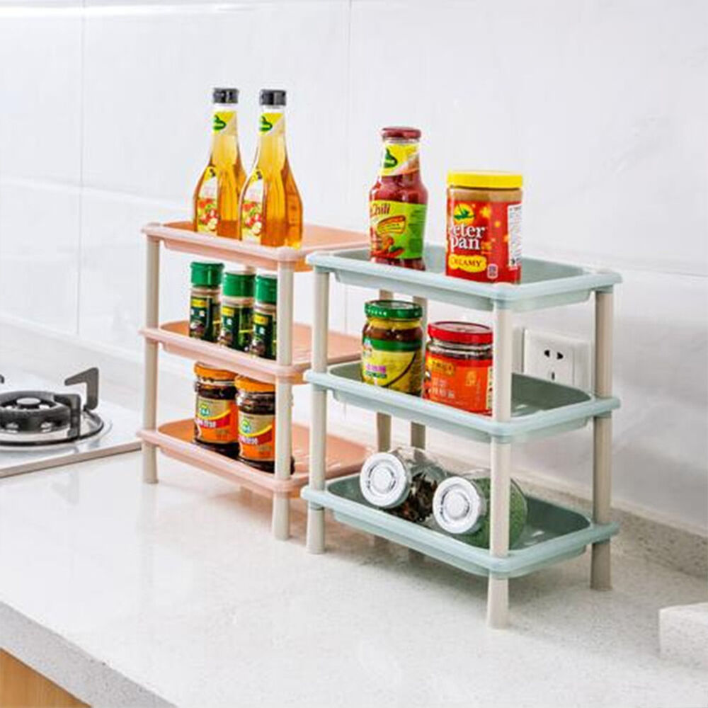 kitchen cabinet racks 3 tier plastic corner shelf unit organizer cabinet 19373