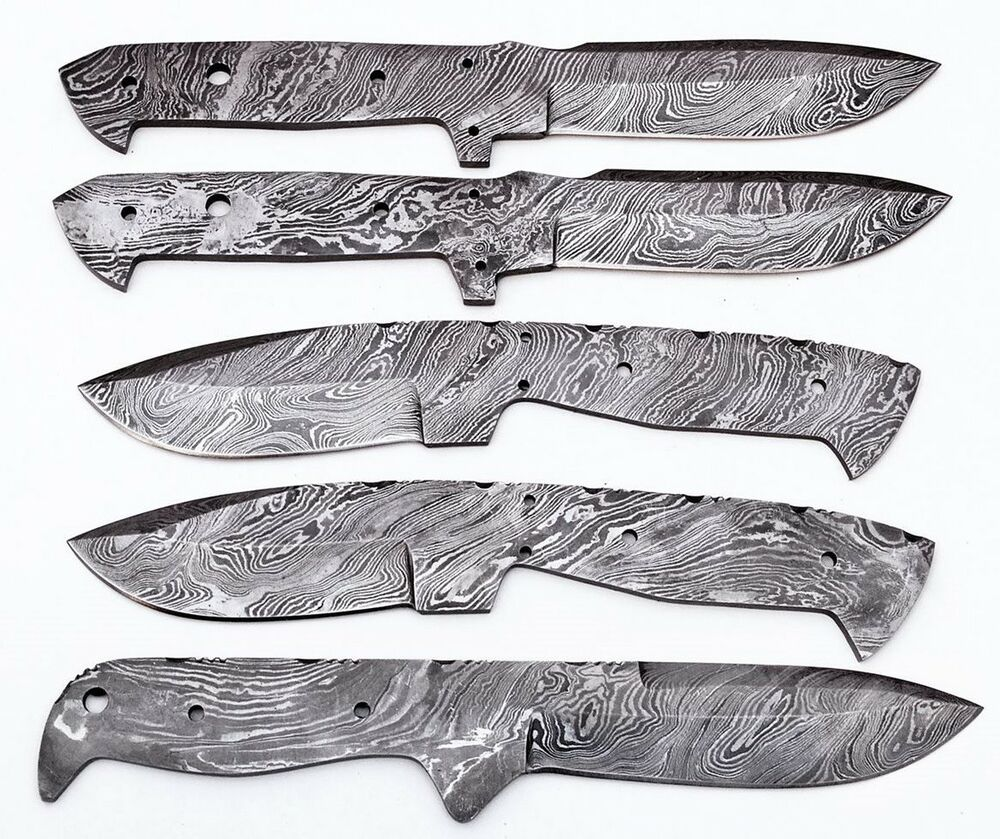 5xst ck damast messer klinge jagdmesser blank blades 5. Black Bedroom Furniture Sets. Home Design Ideas