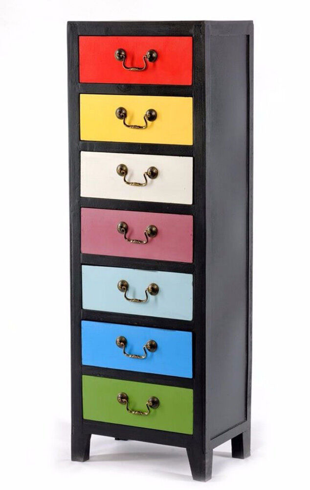 tall chest of drawers retro vintage tallboy shabby chic cabinet narrow room unit ebay. Black Bedroom Furniture Sets. Home Design Ideas