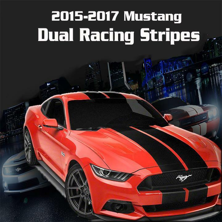 2015 2016 2017 Ford Mustang Dual Racing Rally Stripes