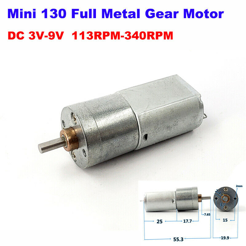 Dc 3v 9v 6v 60rpm micro gearbox gear motor mini 260 speed Gearbox motors