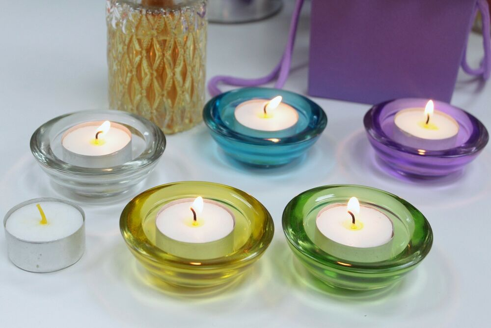glass tea light candle holder ebay. Black Bedroom Furniture Sets. Home Design Ideas