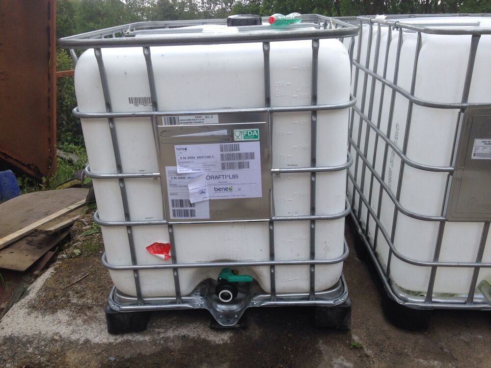 reduced ibc water tank 1000 litres 250 gallons ebay. Black Bedroom Furniture Sets. Home Design Ideas