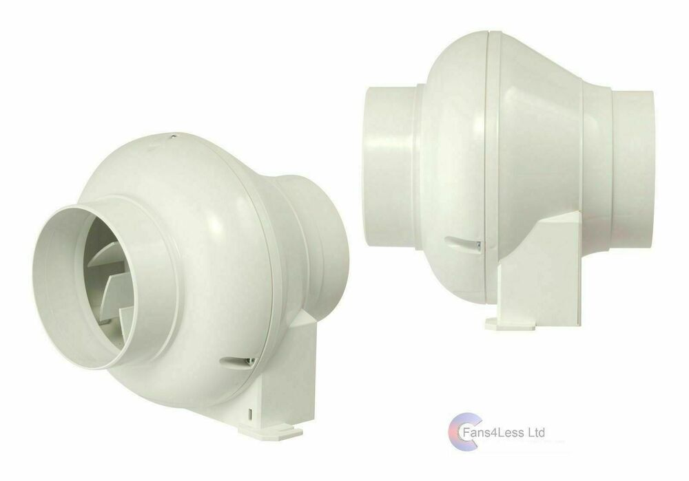 Manrose cfd200tn in line centrifugal fan with timer 4 100mm cfd200t man50t ebay for In line centrifugal bathroom fan