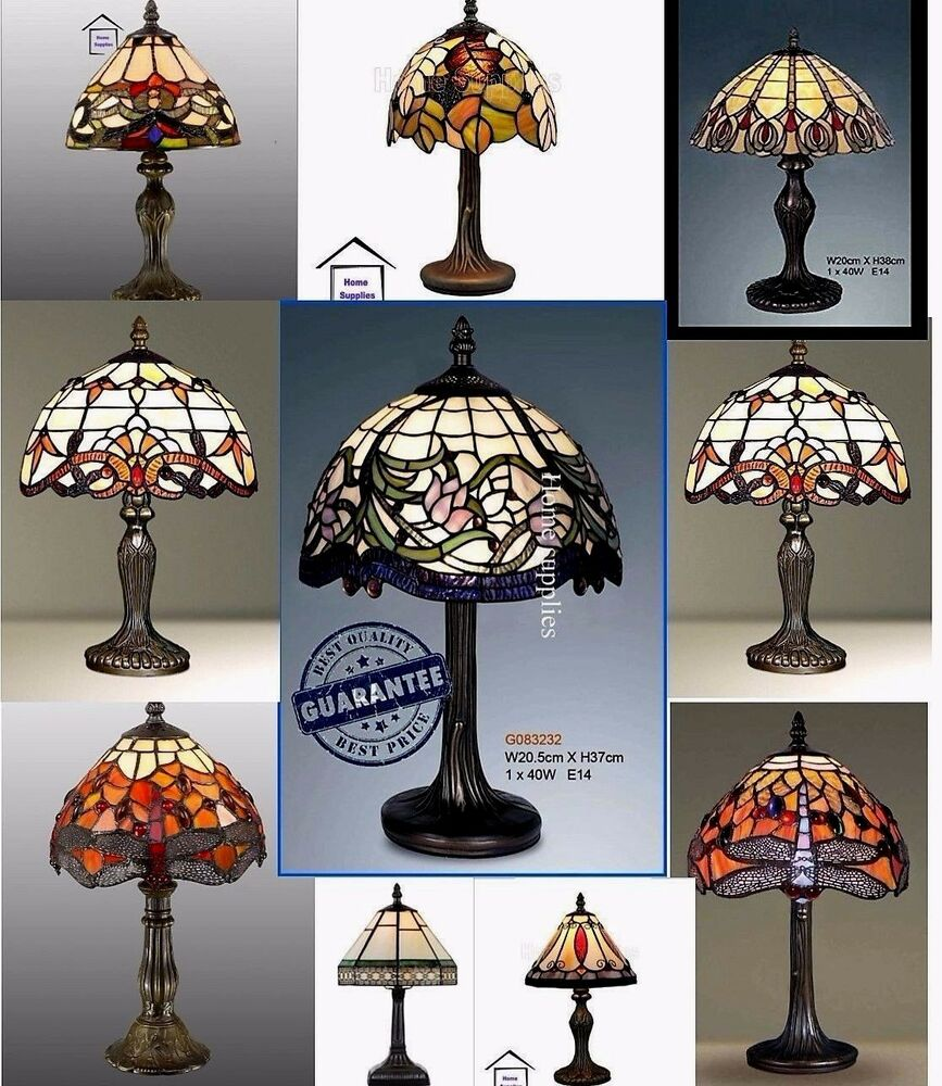 Tiffany Style Handcrafted Table Desk Bedside Lamps Ebay