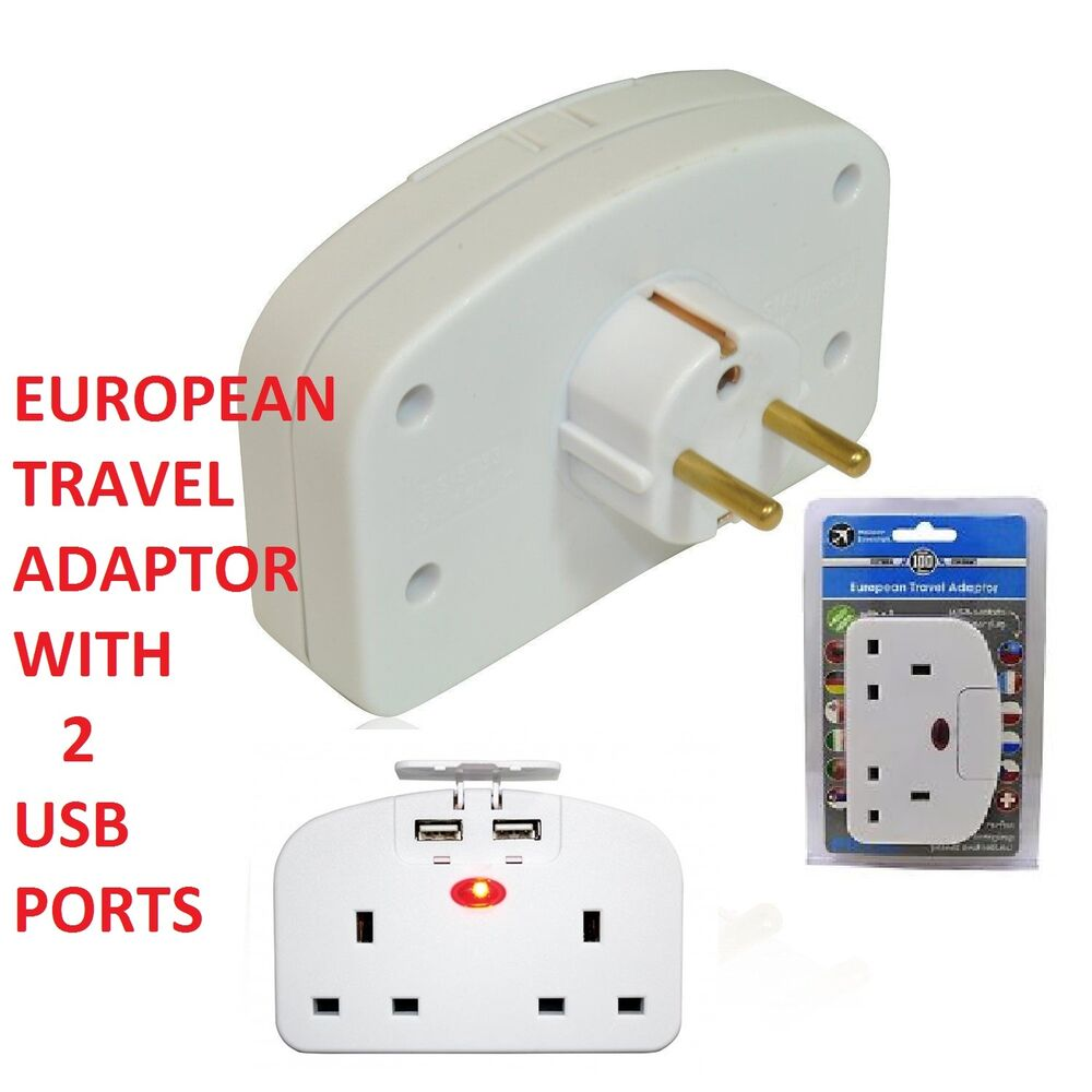 Design Go Uk To Europe Double Adapter