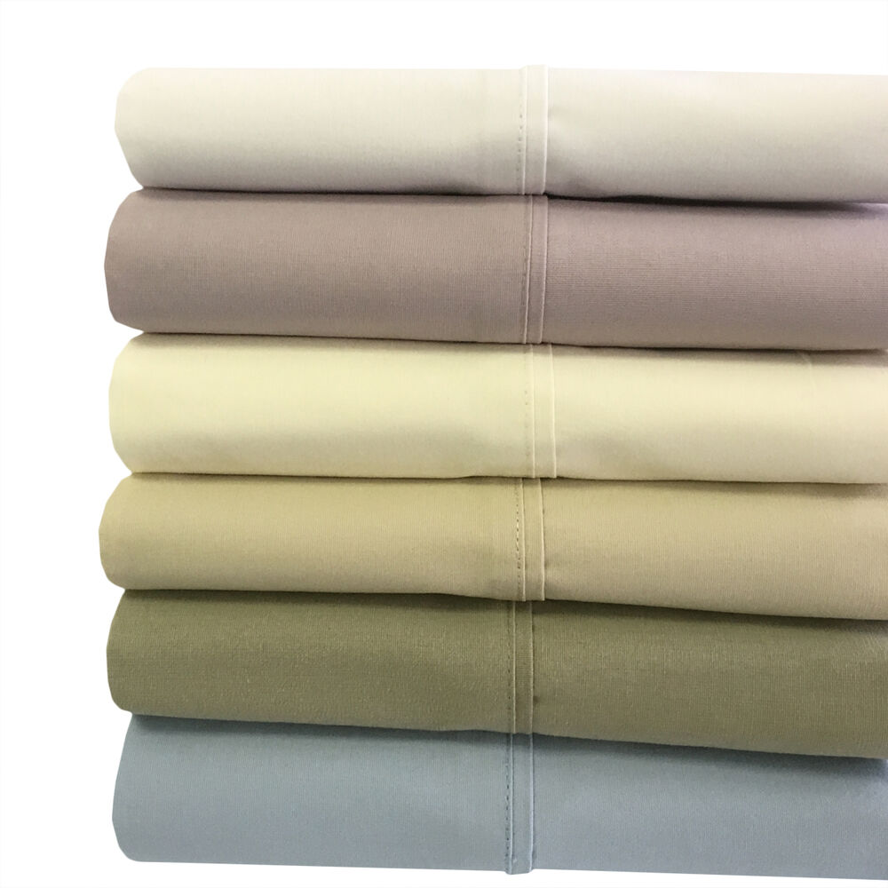 Queen Size Bed Sheet Set-100% Cotton Deep Pocket Percale ...