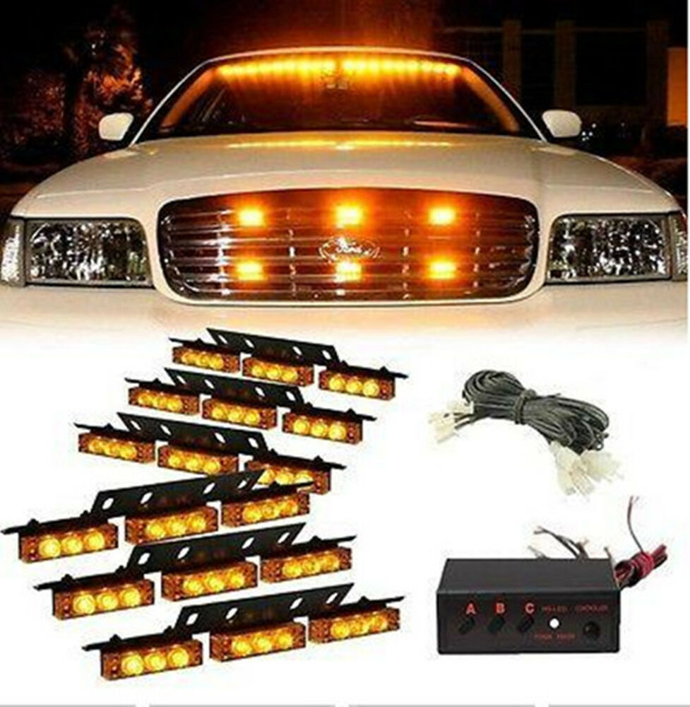 54 Led Car Truck Strobe Emergency Warning Light For Deck