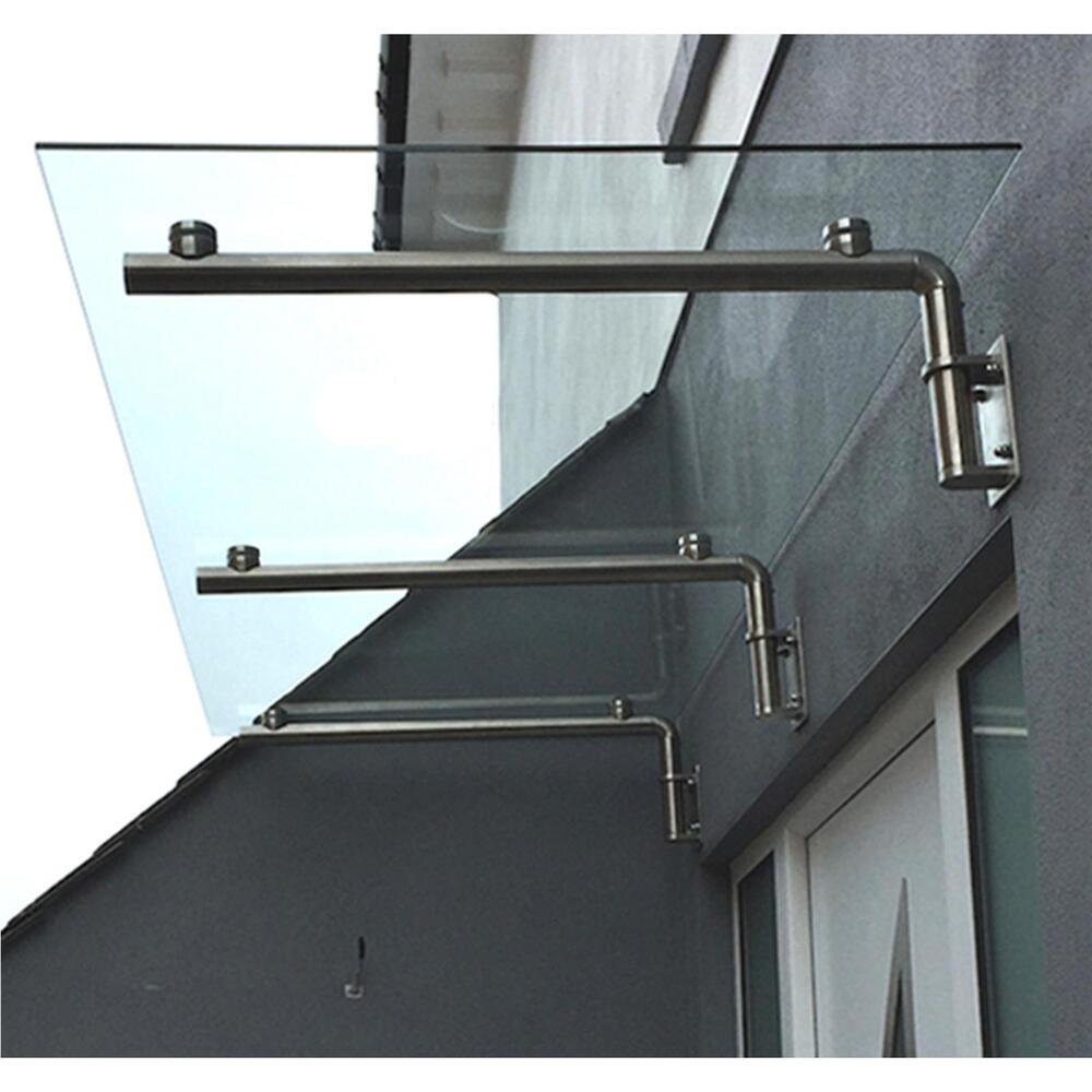 Glass door canopy porch stainless steel balcony shelter for Stainless steel balcony