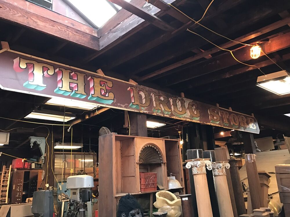 Old Drug Store Sign Hand Painted Old Advertising Ebay