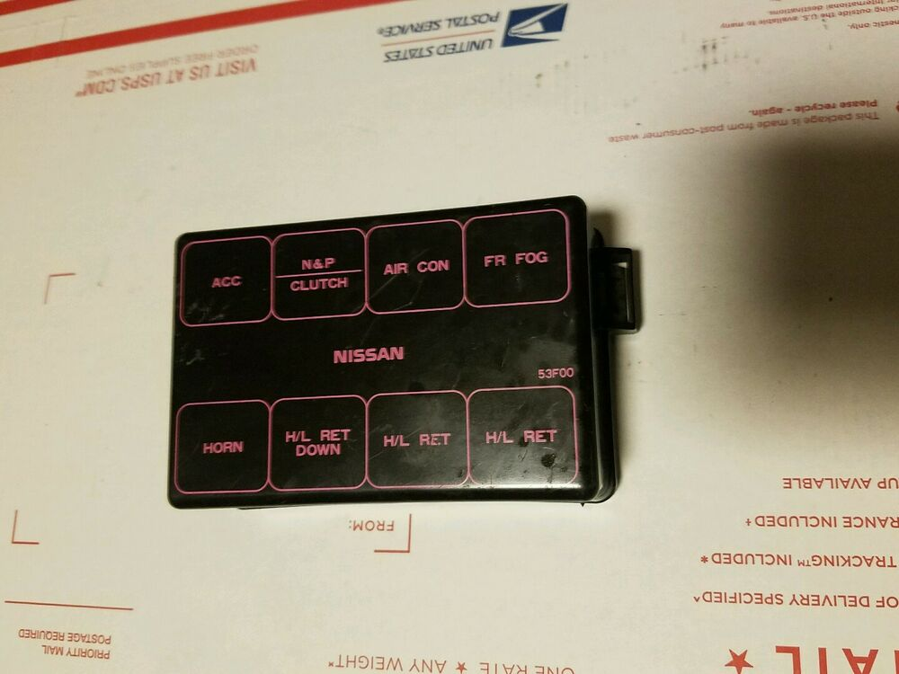 nissan 240sx s13 engine bay fuse box cover 89 90 91 92 93 94