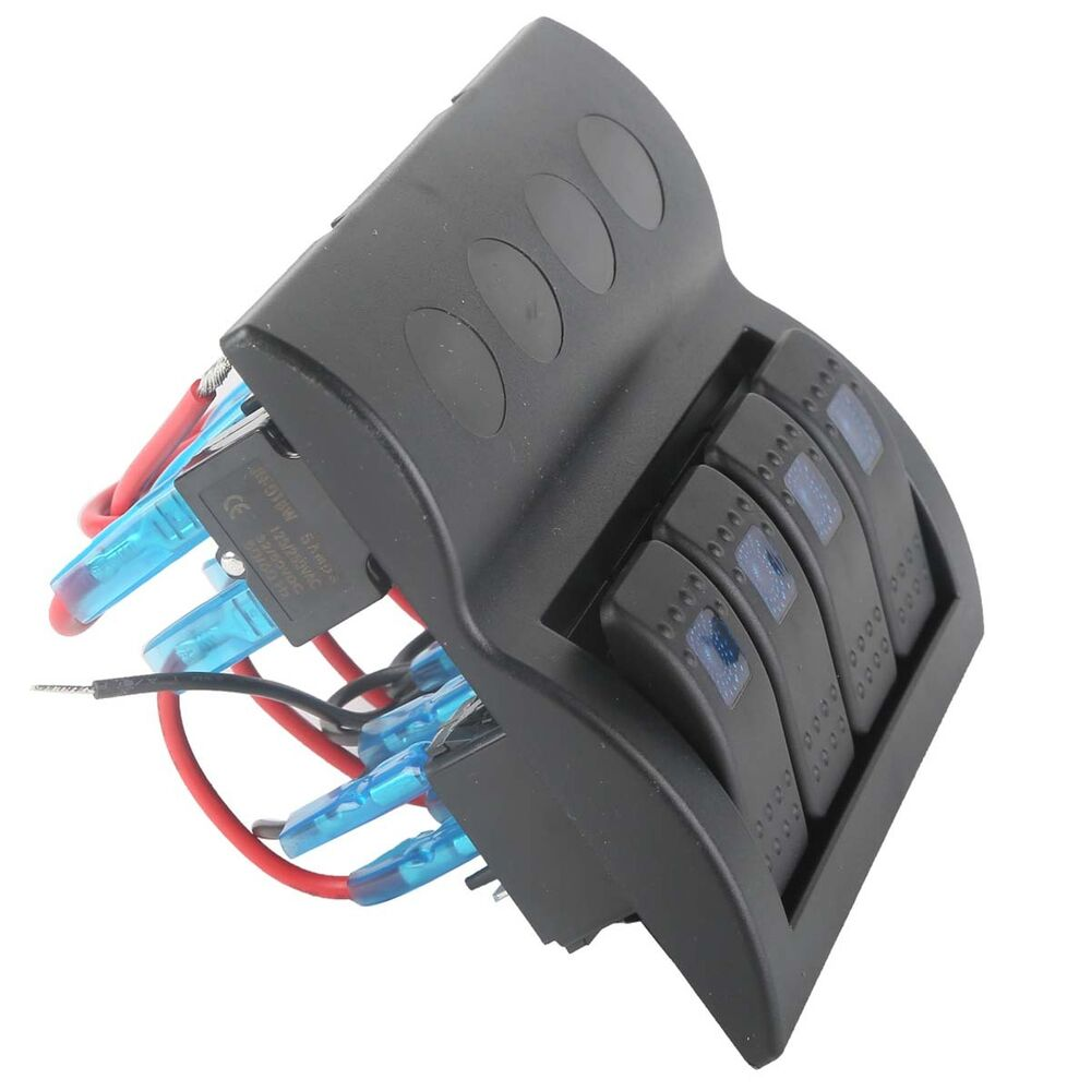 28 12 24v Diy Car Marine Boat 6 Toggle Switch Panel With Fuse Led Rocker Circuit Breaker 4 Switches Ebay Light Y8q3