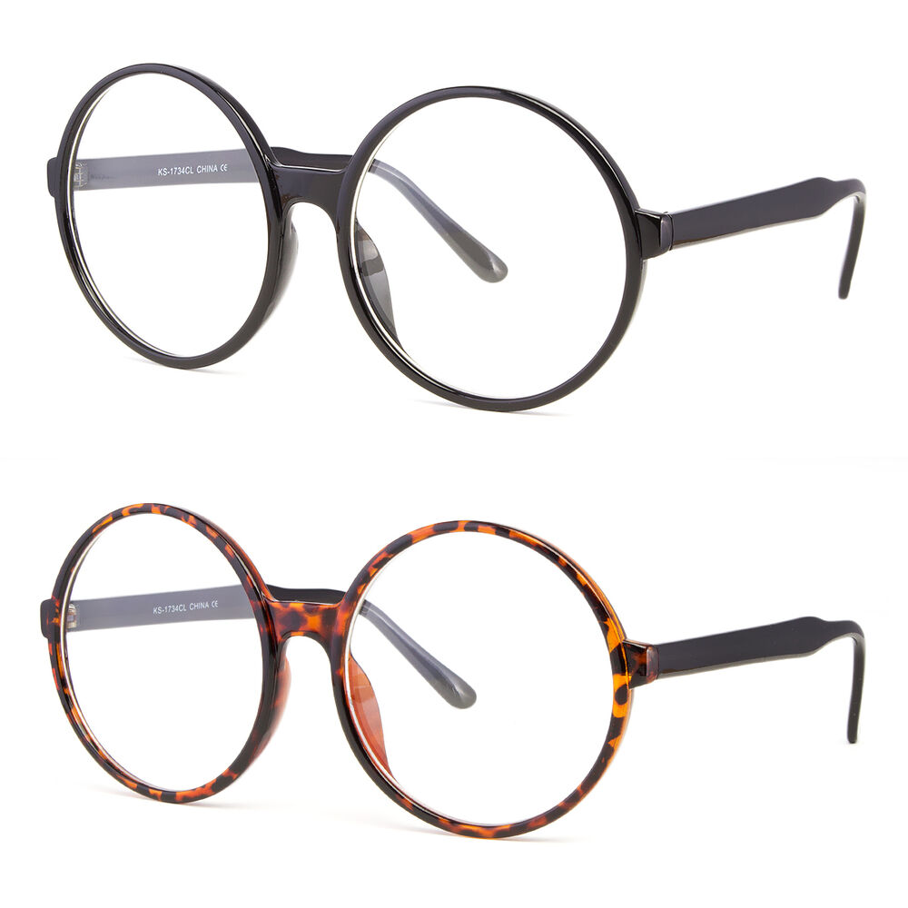Clear Lens Oversized Huge Large Round Cosplay Glasses