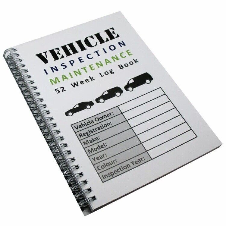 a5 52 week commercial vehicle inspection maintenance record log book diary