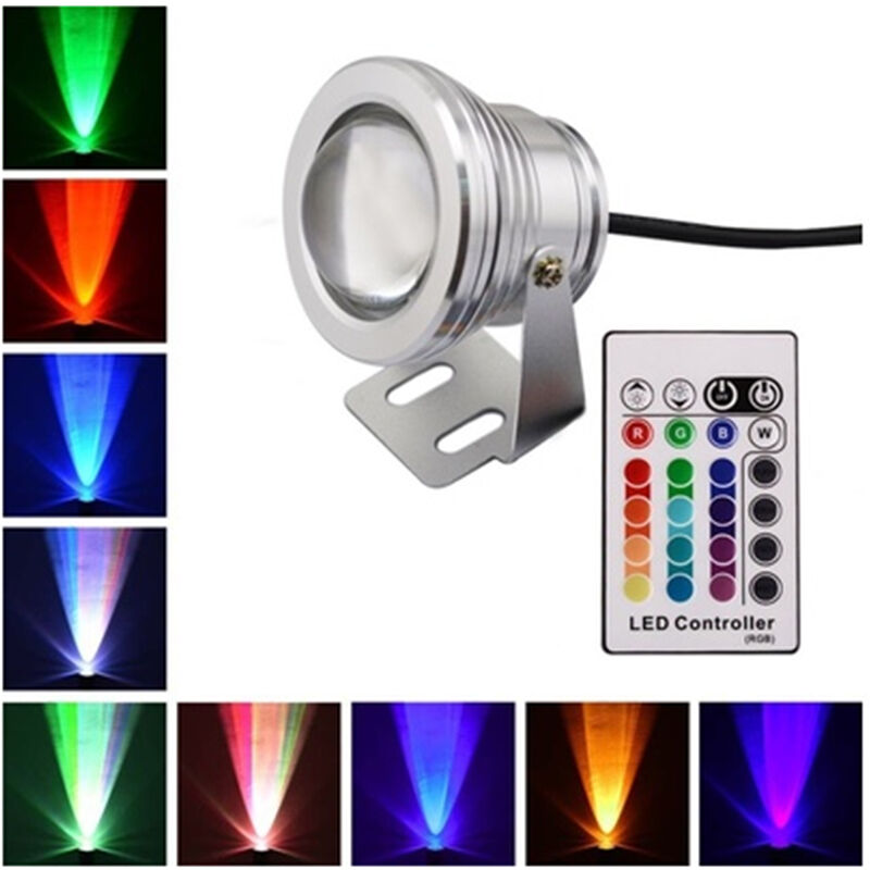 wasserdicht 10w rgb led unterwasserstrahler strahler fluter aquarium lampe dc12v ebay. Black Bedroom Furniture Sets. Home Design Ideas