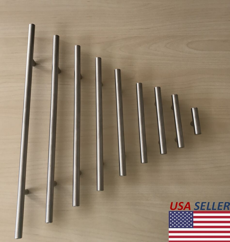 Stainless steel t bar modern kitchen cabinet door handles Fingertip design kitchen door handles