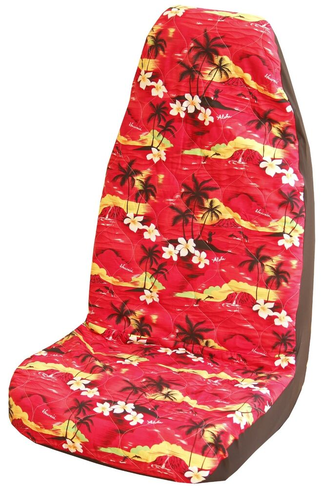 100 sunsets hawaiian car seat covers set of 2 ebay. Black Bedroom Furniture Sets. Home Design Ideas