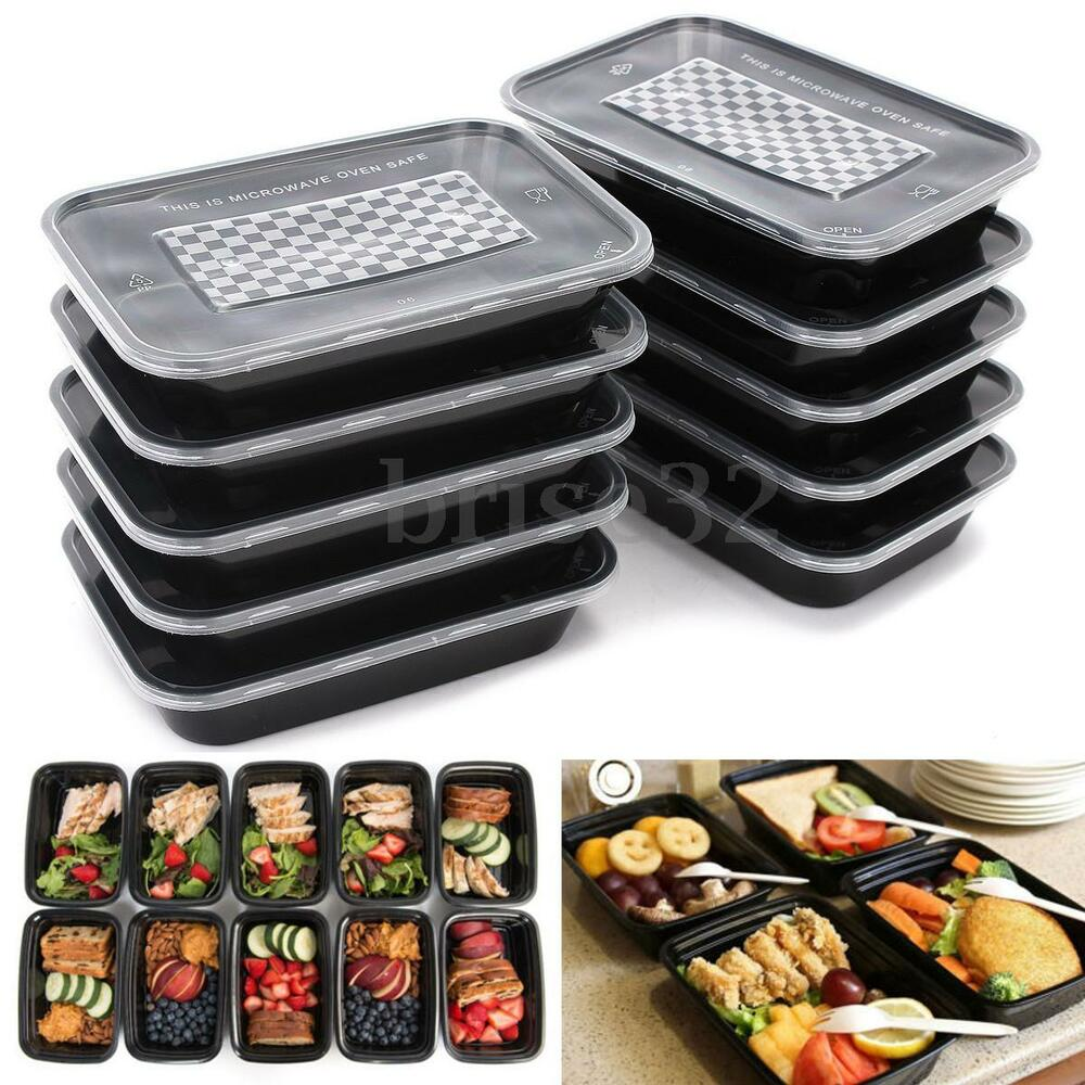 16oz Meal Prep Containers Plastic Food Storage Reusable