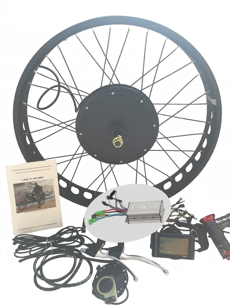 1000w fat bike fat wheel electric bicycle e bike hub motor for Fat bike front hub motor