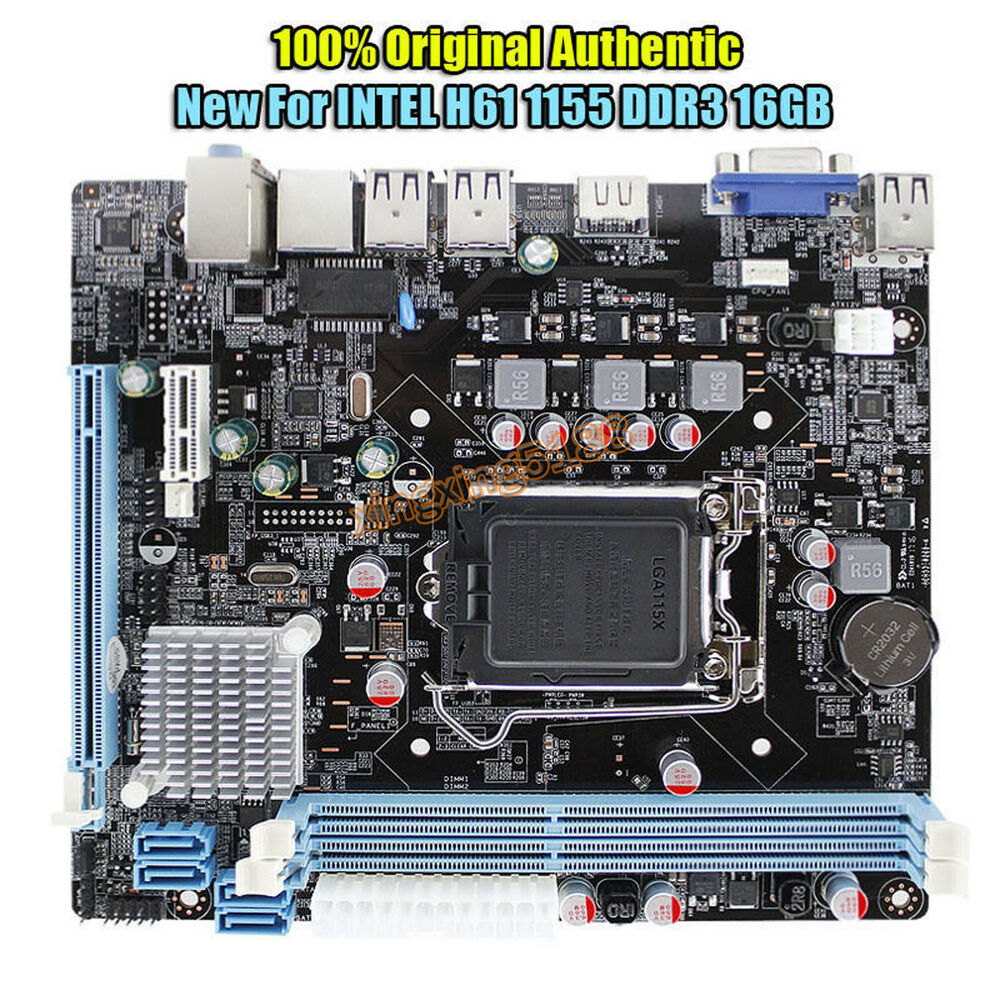NEW for Intel H61 Socket LGA 1155 DDR3 Motherboard PCIE MicroATX Support Core i7 | eBay