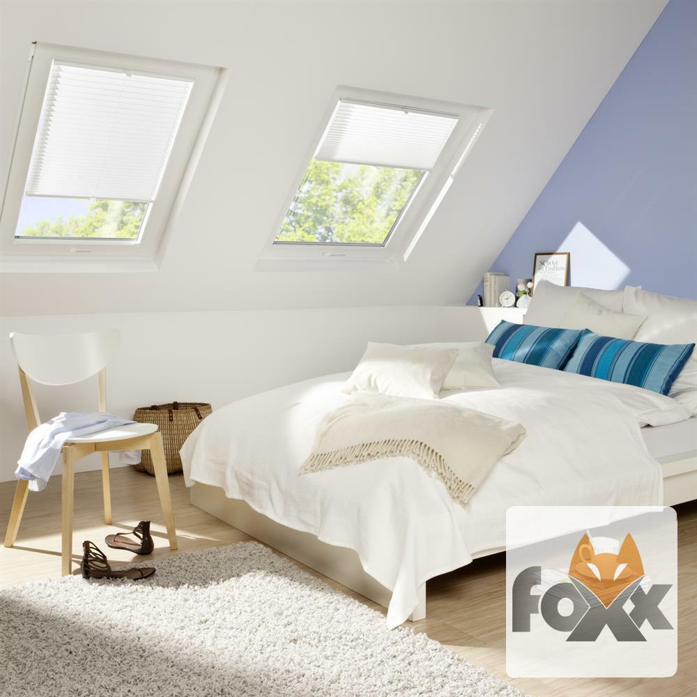 plissee foxx nach ma f r dachfenster velux ggu gtu gpu ghu giu faltstore rollo ebay. Black Bedroom Furniture Sets. Home Design Ideas