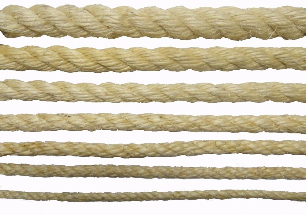 New Natural Sisal Rope Coils Cats Garden Decking Pets