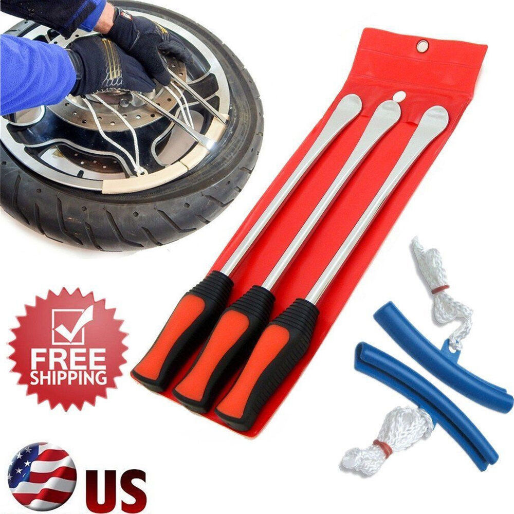Tire Changing Hand Tools >> Spoon Motorcycle Tire Iron Irons Changing Rim Protector Tool Combo New free Case | eBay