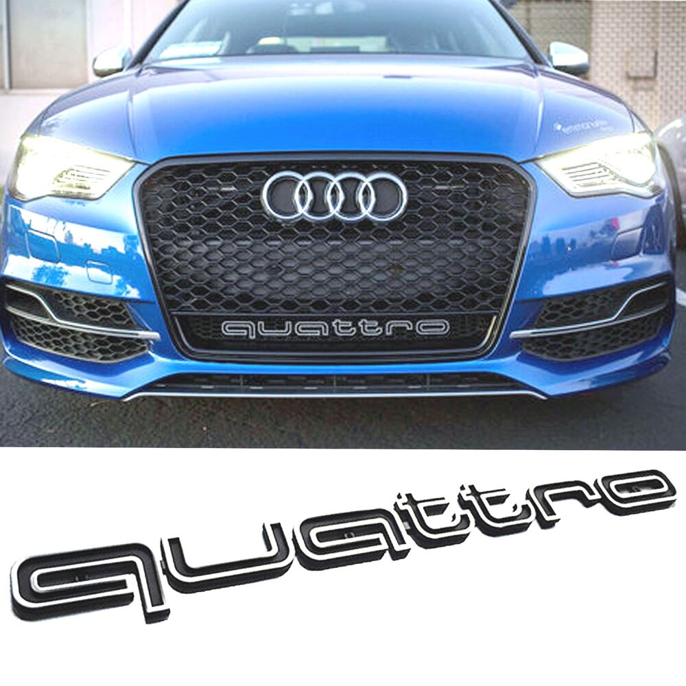 QUATTRO GRILL BADGE AUDI LATEST 2017 A1 A3 A4 A5 S3 S4 Rs