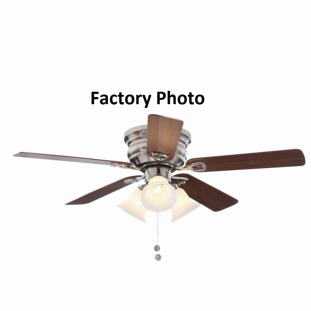 Hampton Bay Ceiling Fan Replacement Parts: Hampton Bay Carkston 44 In. Brushed Nickel Ceiling Fan