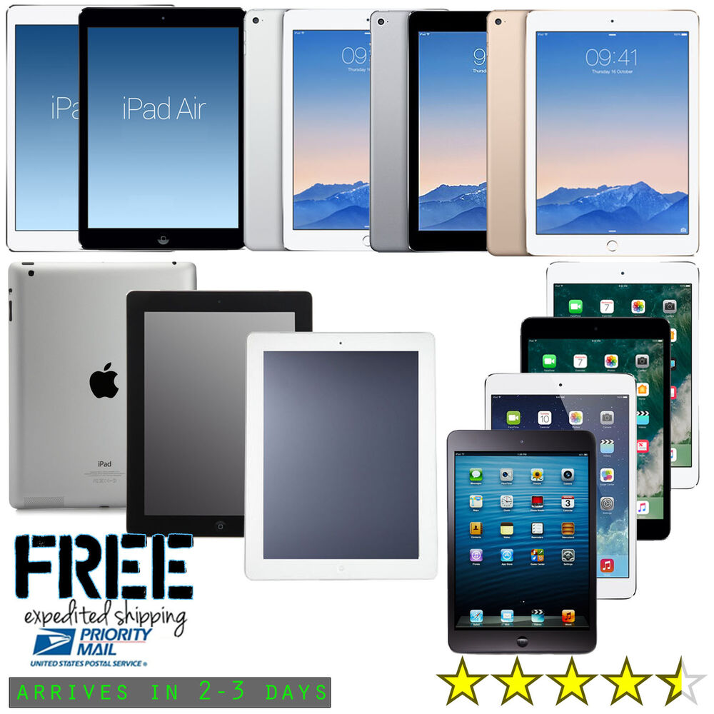 new ipad air mini 2 3 4 pro wifi tablet 16gb 32gb 64gb. Black Bedroom Furniture Sets. Home Design Ideas