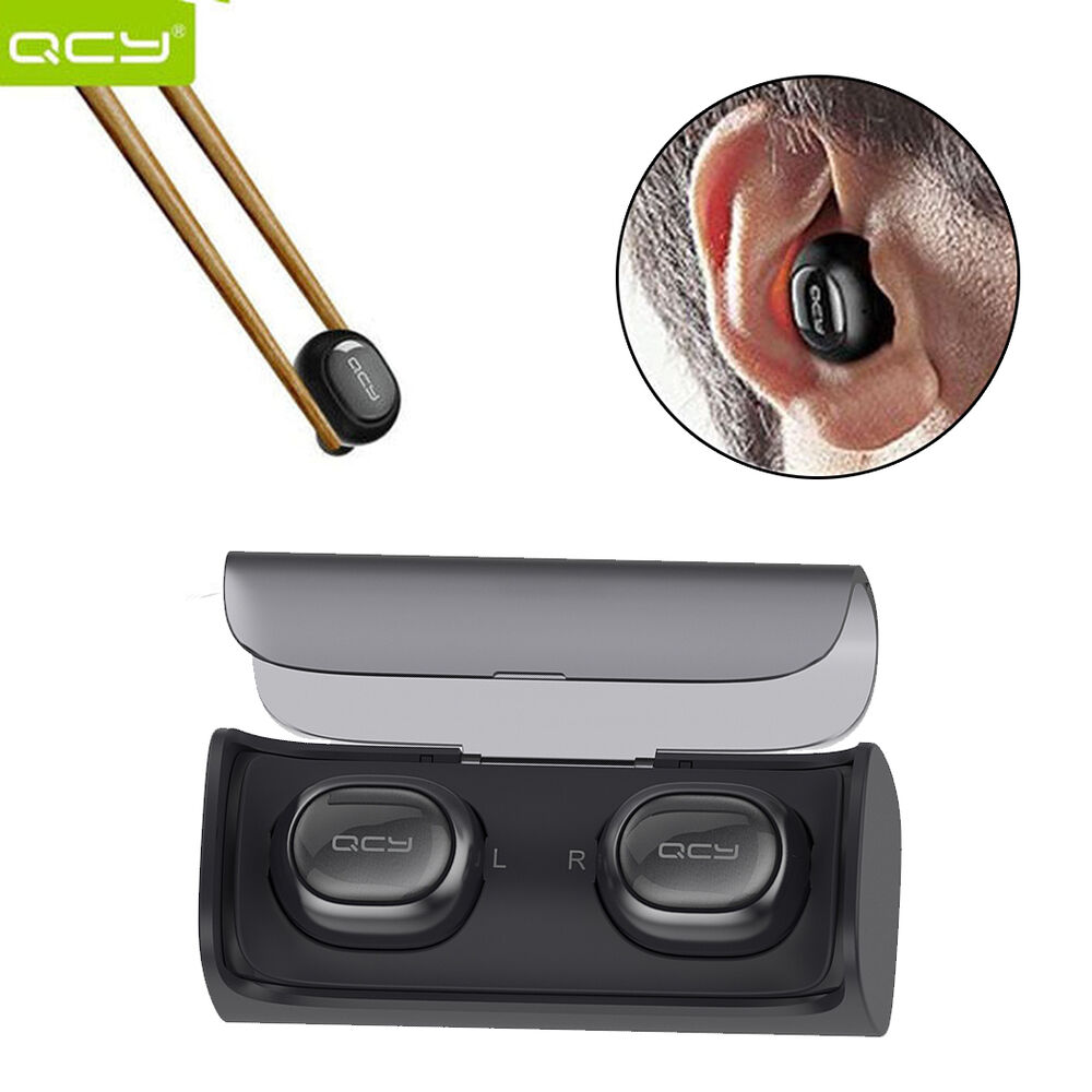 qcy true wireless bluetooth headset stereo twins earbuds f ios android universal ebay. Black Bedroom Furniture Sets. Home Design Ideas