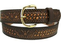 New's Mens Leather Western Belt 46 48 50 52 54 56 58 60
