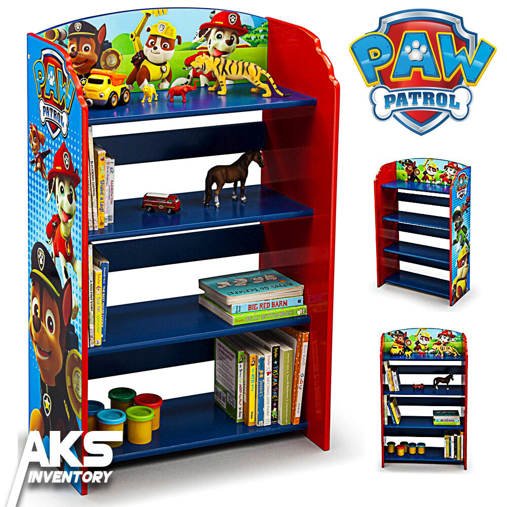Paw Patrol Toy Organizer Bin Cubby Kids Child Storage Box: Paw Patrol Bookshelf Kids Bedroom Storage Children