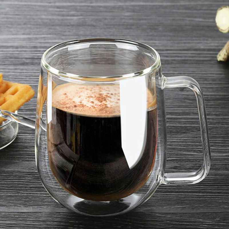 Hot Double Wall Glass Milk Coffee Tea Warmer Cup Mugs Bar Home Office Water Cups Ebay