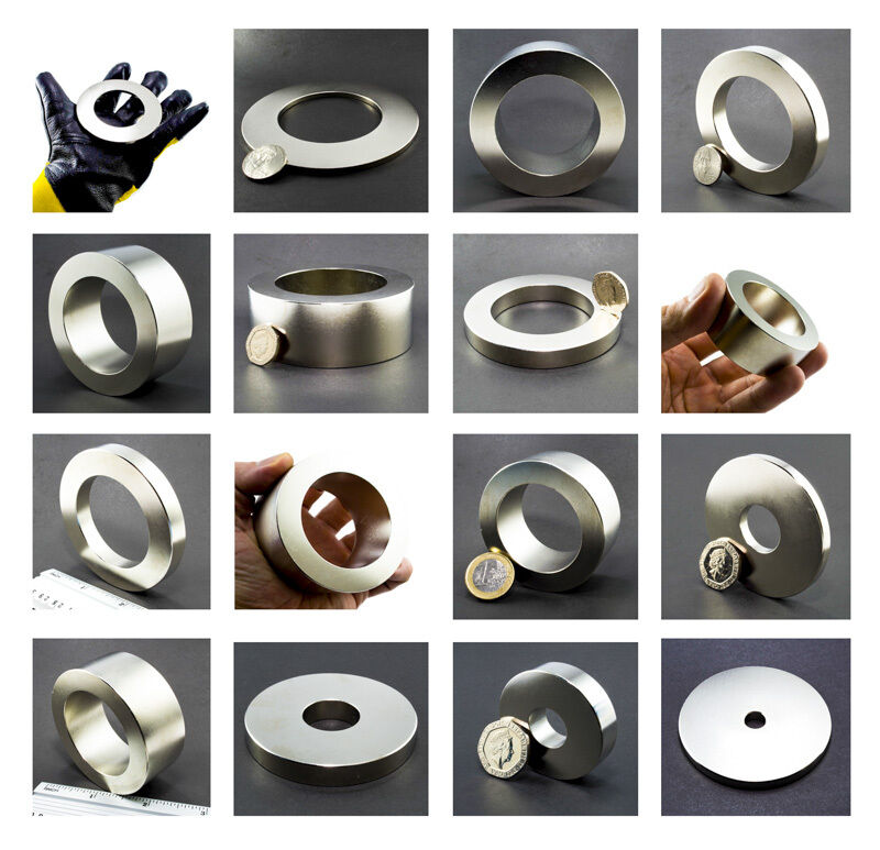 large neodymium magnets ring cylinder super masssssive neodym neodimio magnete ebay. Black Bedroom Furniture Sets. Home Design Ideas
