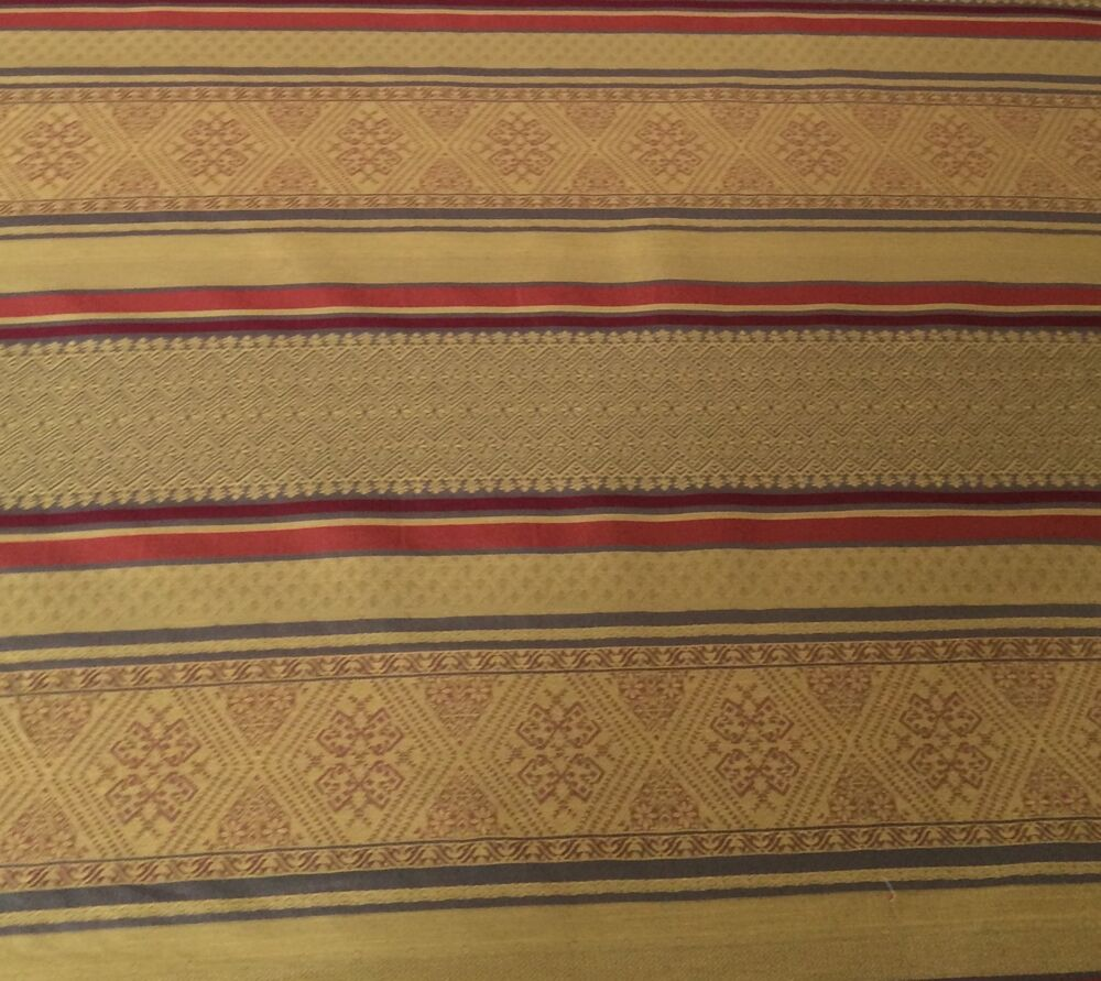 Brunschwig Fils Ottoman Stripe Woven Cotton Gold Rust