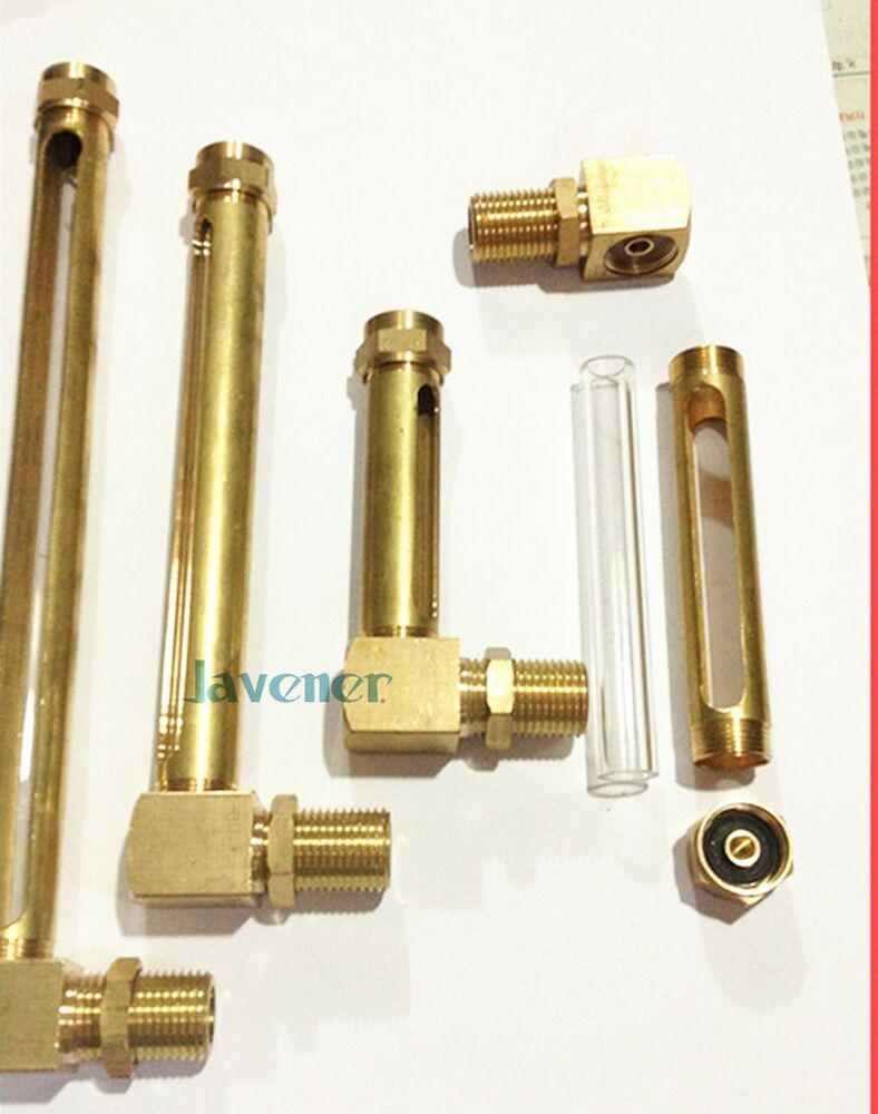 Multiple bsp lube devices elbow brass oil level gauge