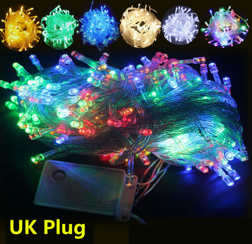 Mains String Garden Lights : 200/300/400/500 Mains LED String Fairy Lights Indoor/Outdoor Xmas Christmas HT eBay