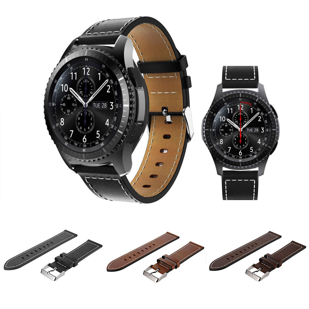 Genuine leather watch band wrist strap for samsung gear s3 frontier classic hot ebay for Watches gear