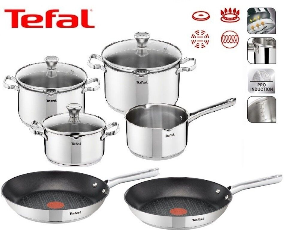 tefal duetto topfset 7 teilig 2 x tefal duetto bratpfanne 24 und 28 cm set neu ebay. Black Bedroom Furniture Sets. Home Design Ideas