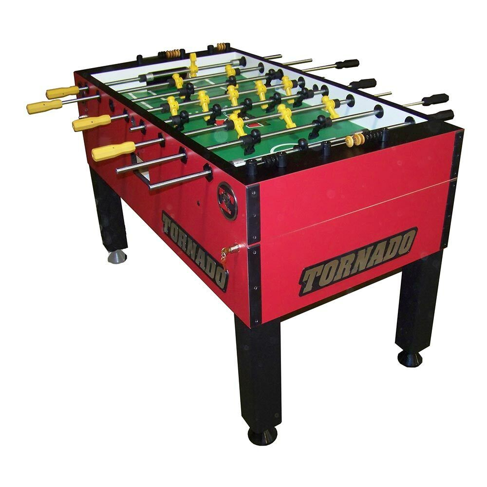 tornado t 3000 red foosball table 1 goalie ebay