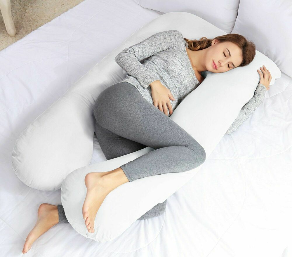 U Shaped Pregnancy Maternity Pillow W Zippered Cover