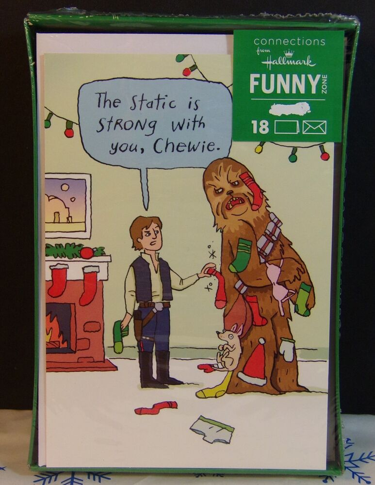 Hallmark Funny Zone Disney STAR WARS Christmas Holiday ...
