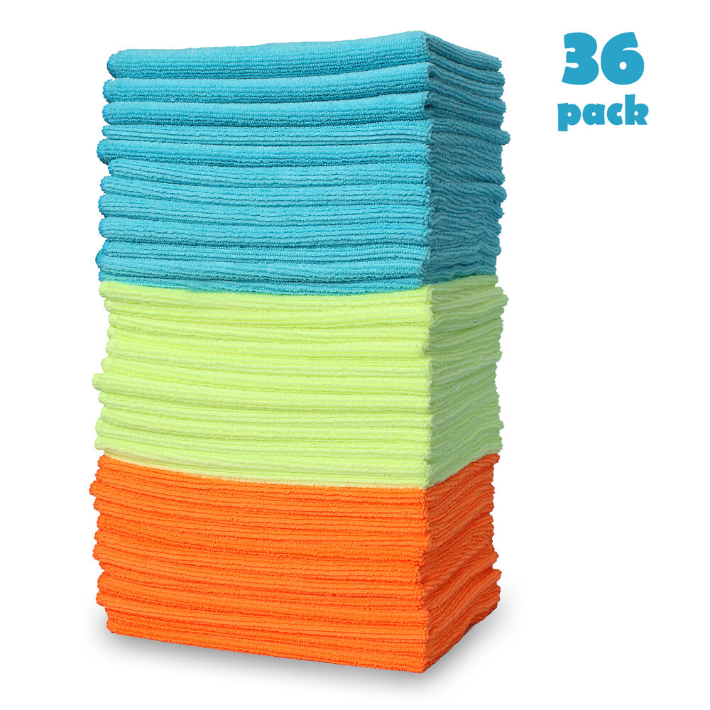 Microfiber Cloth Remove Scratches: 36 Pack Large Microfiber Detailing Towel Home Rag Car