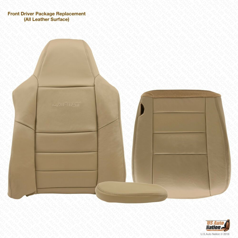 2006 Ford F250 F350 4x4 Lariat Diesel Driver Complete Leather Seat Covers Tan