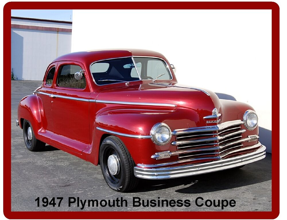 1947 plymouth deluxe business coupe auto refrigerator for 1947 plymouth 2 door coupe