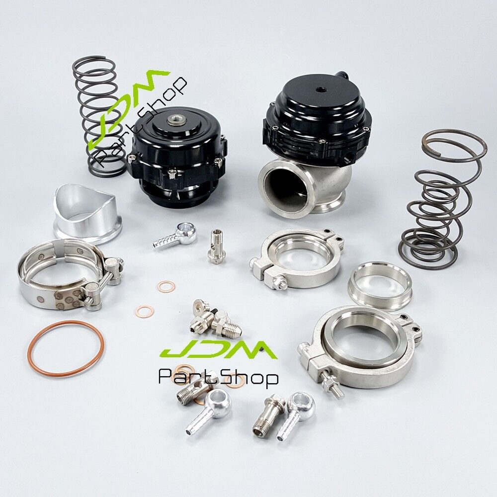 50mm bov and 44mm wastegate combo turbo blow off valve and waste gate black new ebay. Black Bedroom Furniture Sets. Home Design Ideas